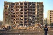 Aftermath of the Khobar Towers bombing in 1996.