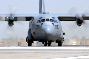 C-130, a medium-lift cargo aircraft nicknamed the Hercules. (Courtesy of the United States Air Force)